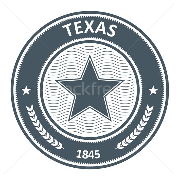 テキサス州 エンブレム スタンプ 星 ストックフォト © gomixer