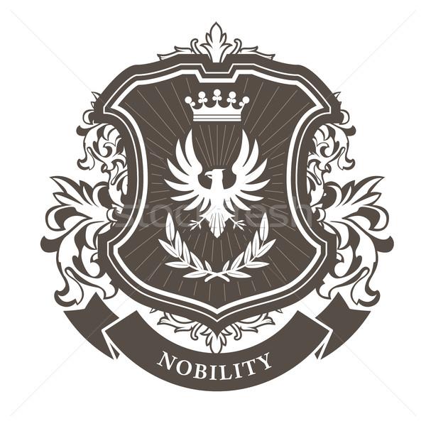 Monarchie jas armen koninklijk embleem schild Stockfoto © gomixer