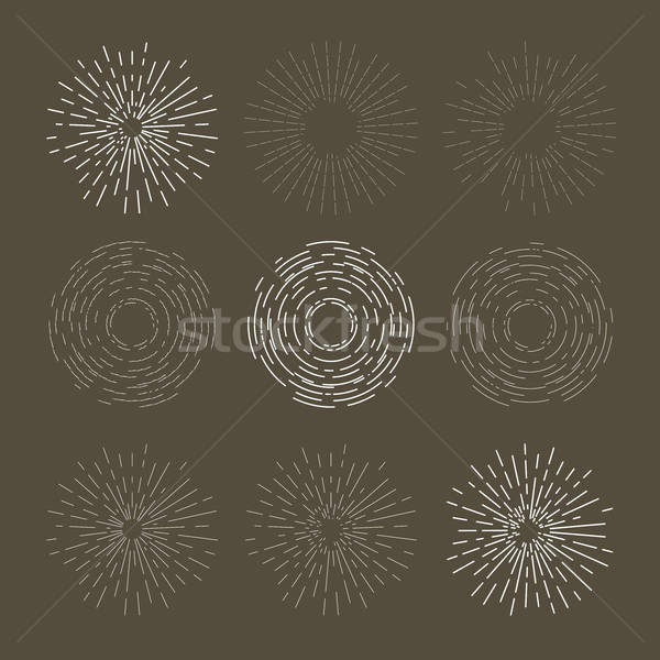 Vintage sunburst design - explosion or outburst dashed symbol Stock photo © gomixer