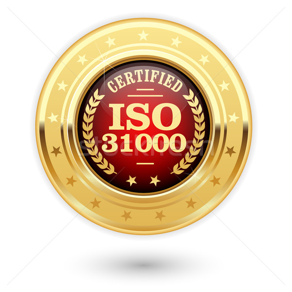 ISO 31000 certified medal - Risk management Stock photo © gomixer