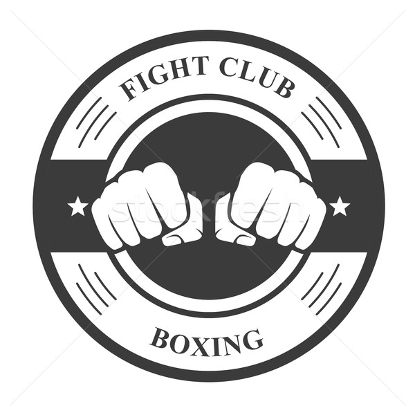 Fight club emblem with two fists - boxing club badge Stock photo © gomixer