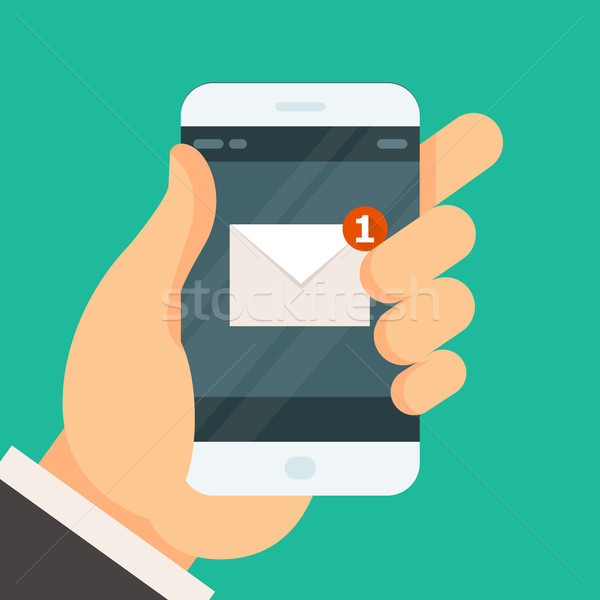 New incoming message on smartphone - email received Stock photo © gomixer