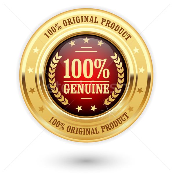100 percent genuine product - golden insignia (medal) Stock photo © gomixer