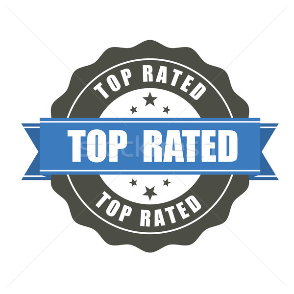 Top Rated badge - award sticker Stock photo © gomixer