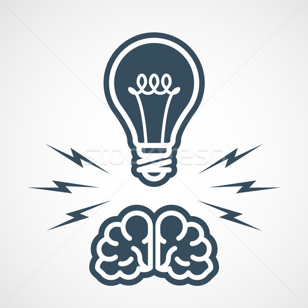 Intellectual property - power of mind and ideas Stock photo © gomixer