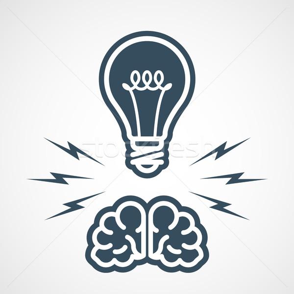 Fikri mülkiyet güç akla fikirler eğitim beyin Stok fotoğraf © gomixer