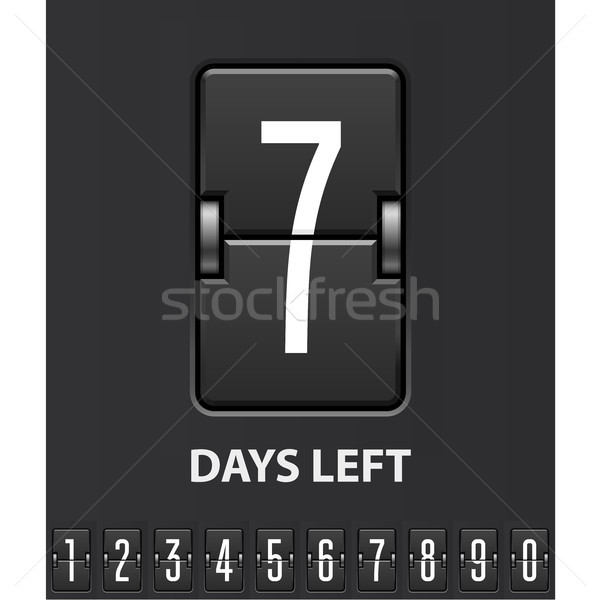 Seven days left, flip scoreboard - mechanical countdown timer  Stock photo © gomixer