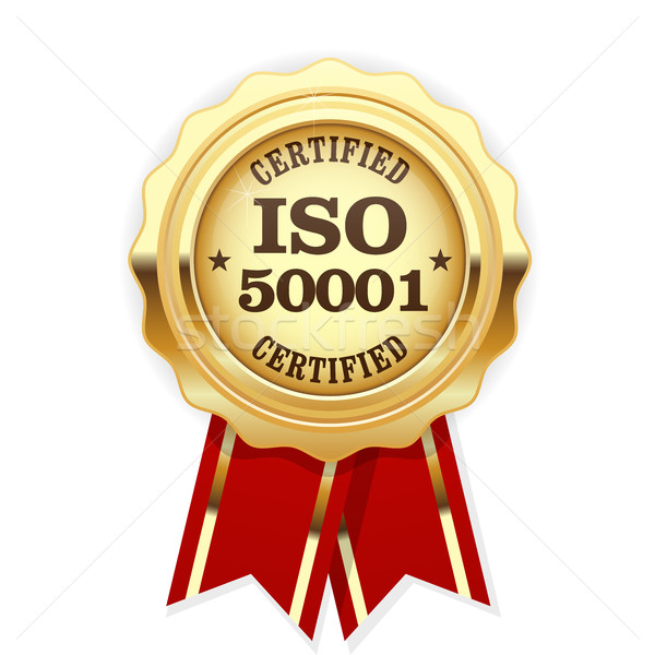 ISO 50001 standard certified rosette - energy management systems Stock photo © gomixer