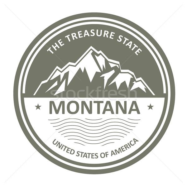 Montana hegyek hegy címke hó utazás Stock fotó © gomixer