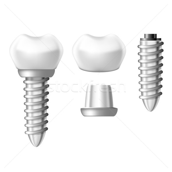 Dental implant component parts - tooth denture components Stock photo © gomixer