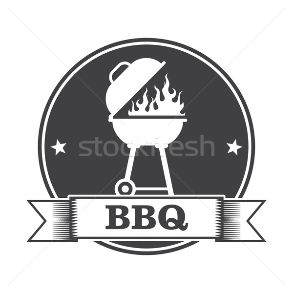 Barbecue (bbq) and grill party stamp Stock photo © gomixer