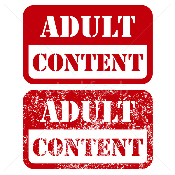 Adult content sign - shabby stamp Stock photo © gomixer