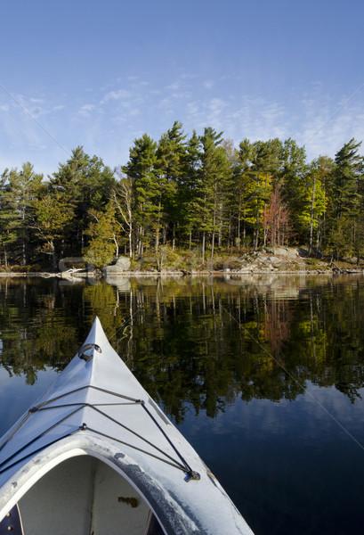 Foto stock: Caiaque · lago · norte · reflexão