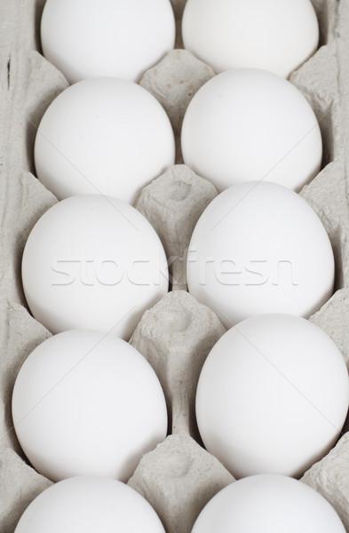Foco ovos foco meio cartão comida Foto stock © Gordo25