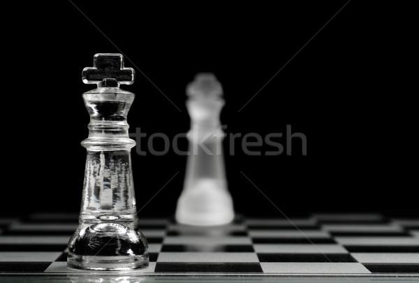 Koning ander voorgrond selectieve aandacht sport Stockfoto © Gordo25