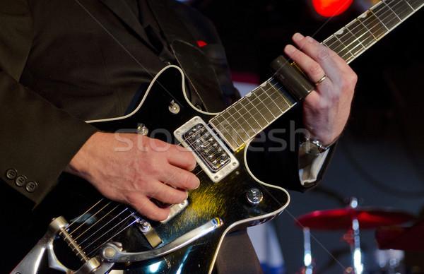 Müzisyen oynama gitar elektrogitar hüzün festival Stok fotoğraf © Gordo25