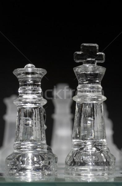 Glas koning koningin voorgrond selectieve aandacht groep Stockfoto © Gordo25