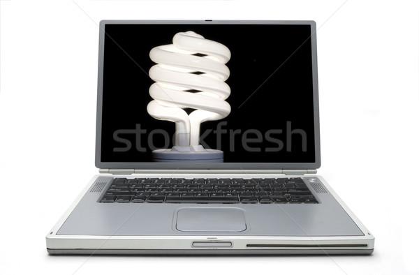ноутбука сохранение энергии лампа свет Сток-фото © Gordo25
