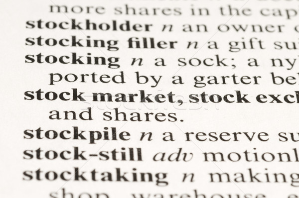 Stock Market Stock photo © Gordo25