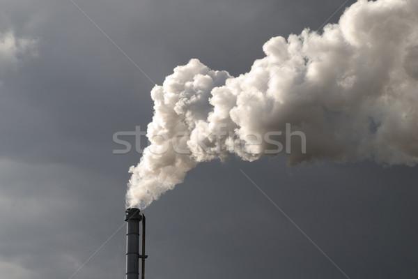 Smokestack Pollution Stock photo © Gordo25