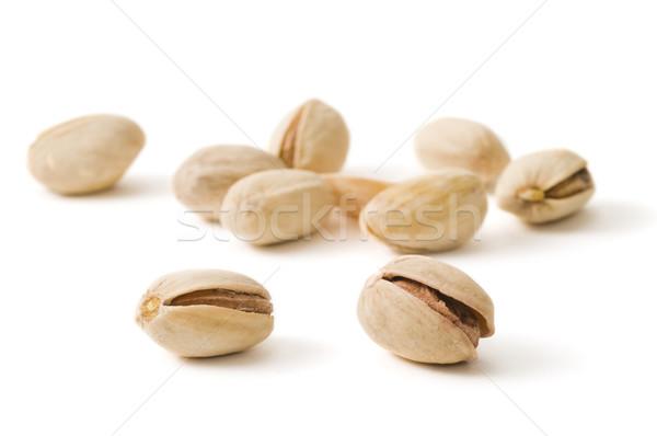 Accent deux mise au point sélective alimentaire blanche semences Photo stock © Gordo25