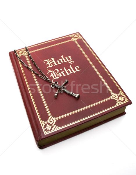 Red Bible on White Stock photo © Gordo25