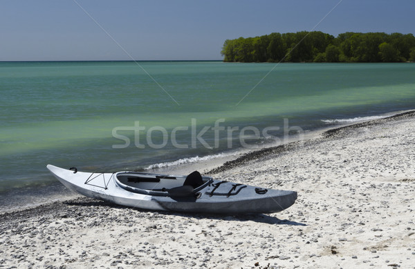 Kayak on the Shoreline Stock photo © Gordo25