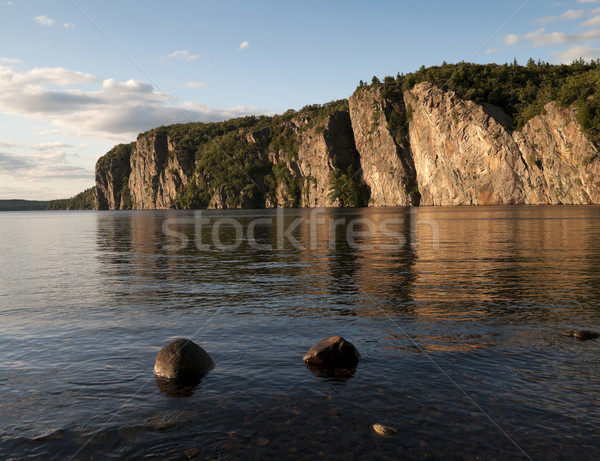 Cliffside Sunset to Bon Echo Stock photo © Gordo25