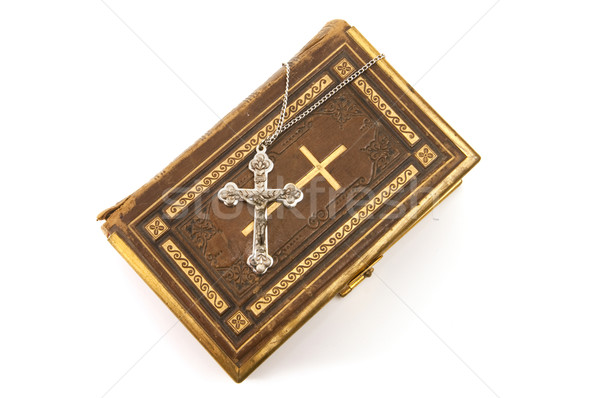 Ornate Cross on a Bible Stock photo © Gordo25