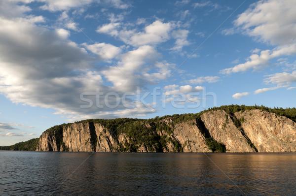 északi Ontario tó nagy szirt Kanada Stock fotó © Gordo25