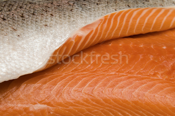 新鮮な 鮭 選択フォーカス エッジ フィレット 食品 ストックフォト © Gordo25