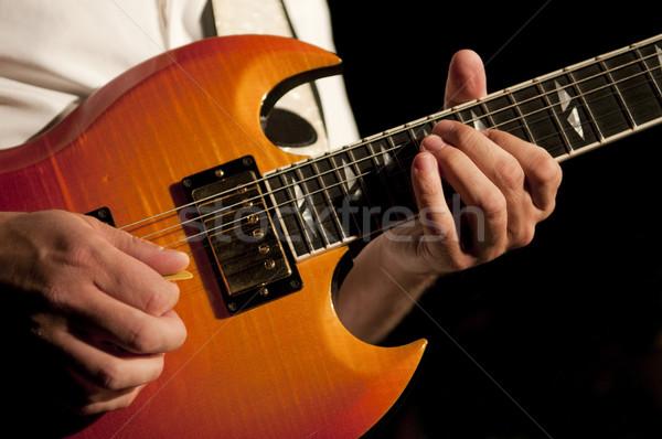 гитаре рук копия пространства металл Сток-фото © Gordo25