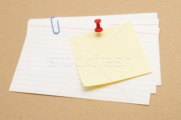 Sticky On Index Card Stock photo © Gordo25