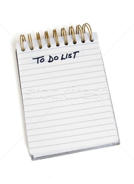 To do list jezelf notebook communicatie witte nota Stockfoto © Gordo25