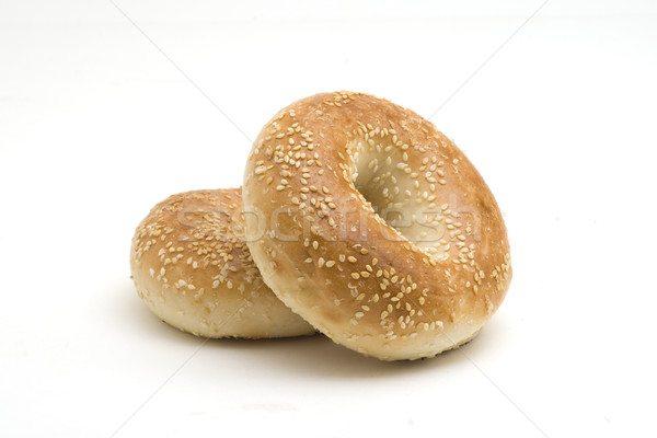 Sesame Seed Bagels Stock photo © Gordo25