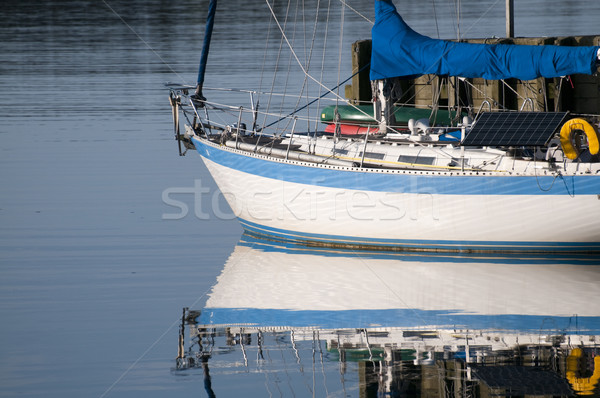 Sailboat Reflection Stock photo © Gordo25