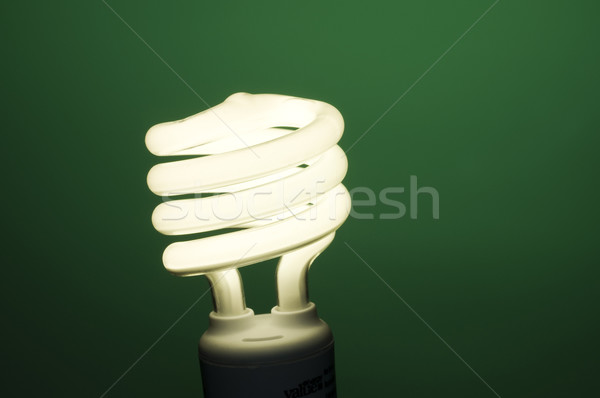 Fluorescent Light on Green Stock photo © Gordo25