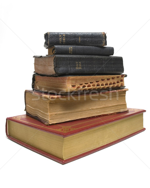 Velho novo bíblia sessão abaixo Foto stock © Gordo25