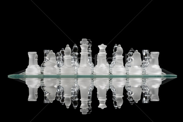 Chess Game Reflection Stock photo © Gordo25