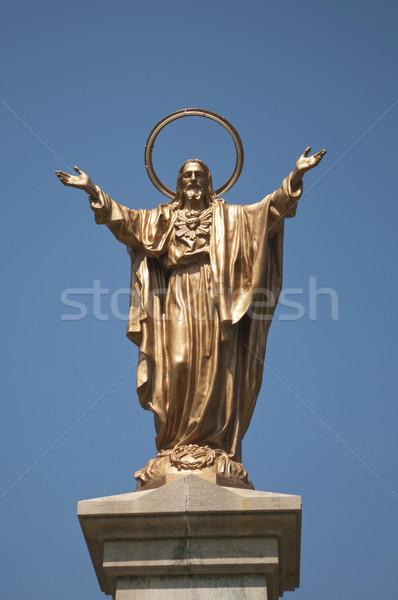 Statue of Jesus Stock photo © Gordo25