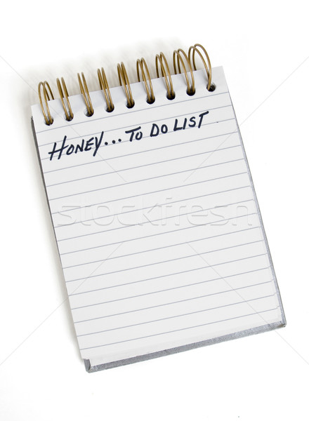 Lijst honing to do list familie notebook leven Stockfoto © Gordo25