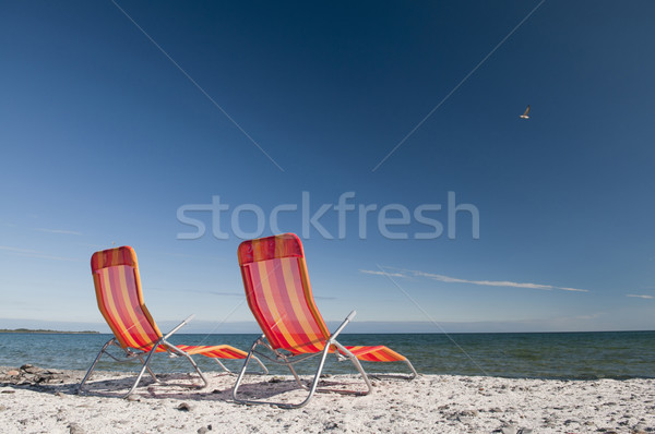 Lounging on Lake Ontario Shoreline Stock photo © Gordo25