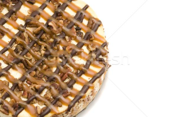 Carmel Pecan Cheesecake Stock photo © Gordo25