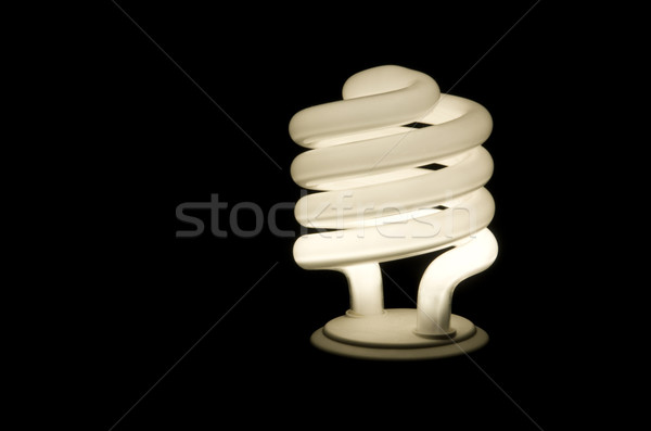 蛍光灯 黒 光 背景 ランプ エネルギー ストックフォト © Gordo25