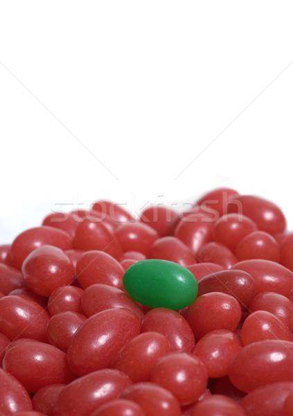 Single Green Jelly Bean Stock photo © Gordo25