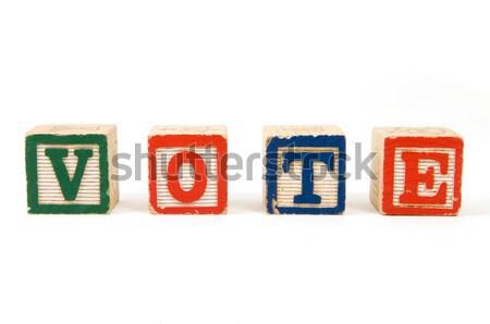 Votar blocos ortografia branco Foto stock © Gordo25