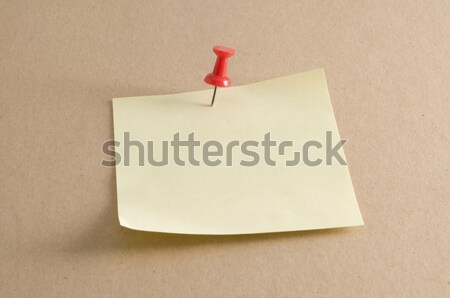 Pushpin on Sticky Note Stock photo © Gordo25