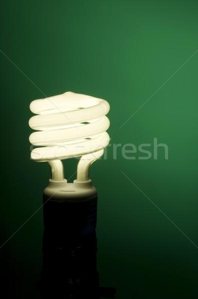 флуоресцентный зеленый вертикальный изображение светло-зеленый стекла Сток-фото © Gordo25