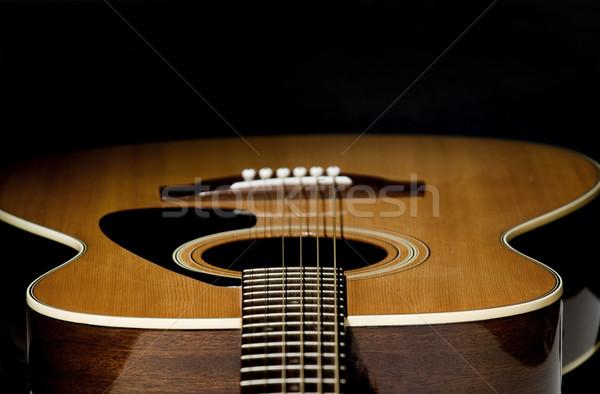 Guitarra foco abstrato tiro olhando para baixo rocha Foto stock © Gordo25