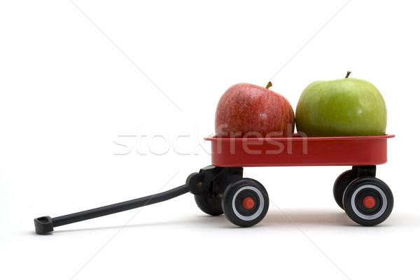 リンゴ ワゴン 緑 赤いリンゴ 小 赤 ストックフォト © Gordo25